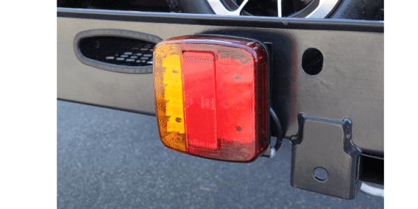 Mobility scooter rack - light slide