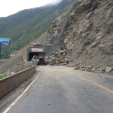 The Landslide that halted our progress (Sichuan Province, China)