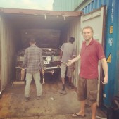 Boris in his container (Port Klang, Malaysia)