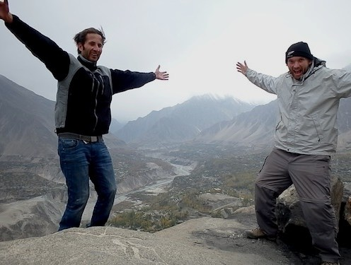 Winter views with Mahmood in the Hunza Valley (Karimabad, Pakistan)