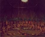 Interior View of the Medicine Lodge, Mandan O-kee-pa Ceremony. Smithsonian American Art Museum