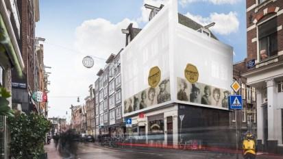 Steigerdoekreclame Haarlemmerstraat 45 Amsterdam