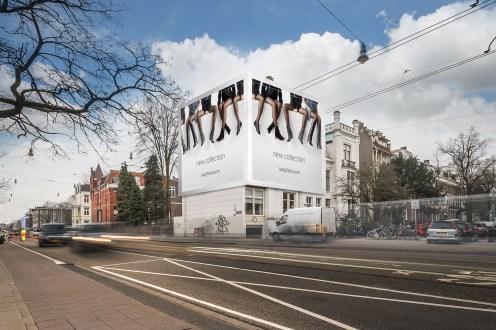 Big Outdoor Media steigerdoekreclame Locatie Eerste Constantijn Huygensstraat / Vondelstraat 47, Amsterdam