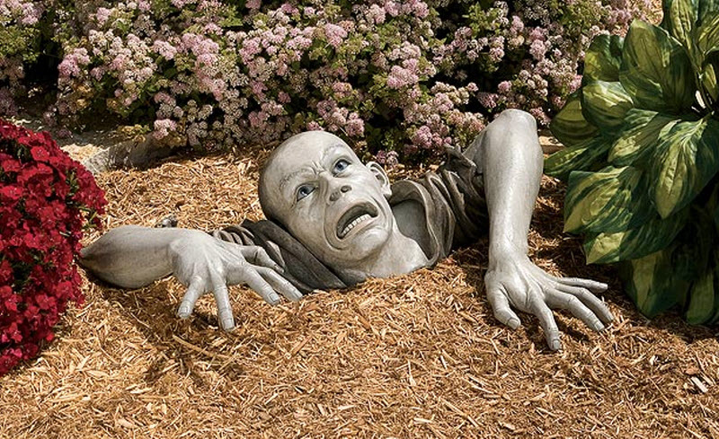 55  Необычные садовые скульптуры