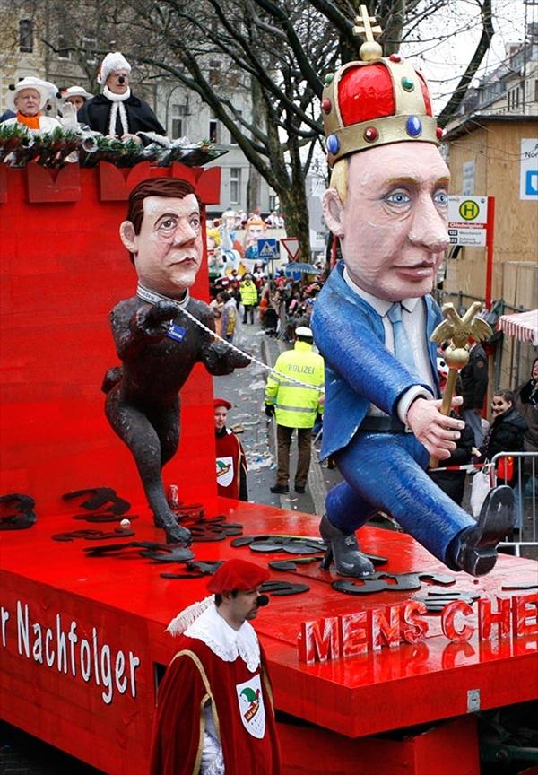 128 Политическая сатира на немецких карнавалах