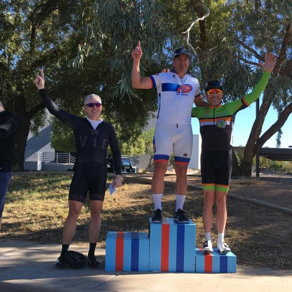 Bob Francis took 4th in a local master's crit!