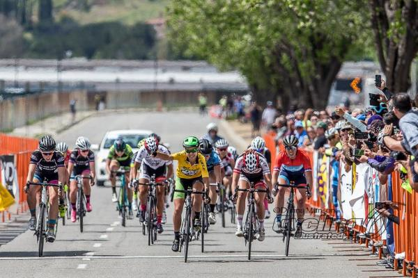 Christina Birch takes 3rd in the Women's Pro 1/2 crit at San Dimas.