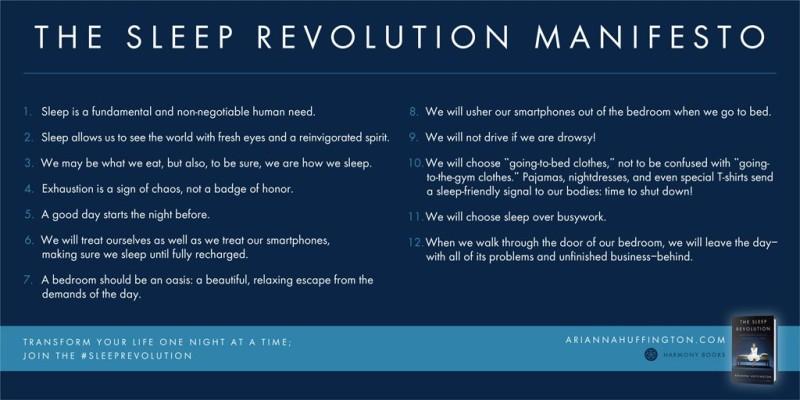 Ariana Huffington's The Sleep Manifesto