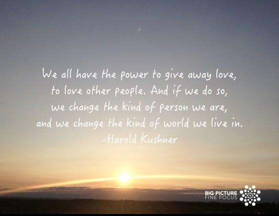 Harold Kushner on Love