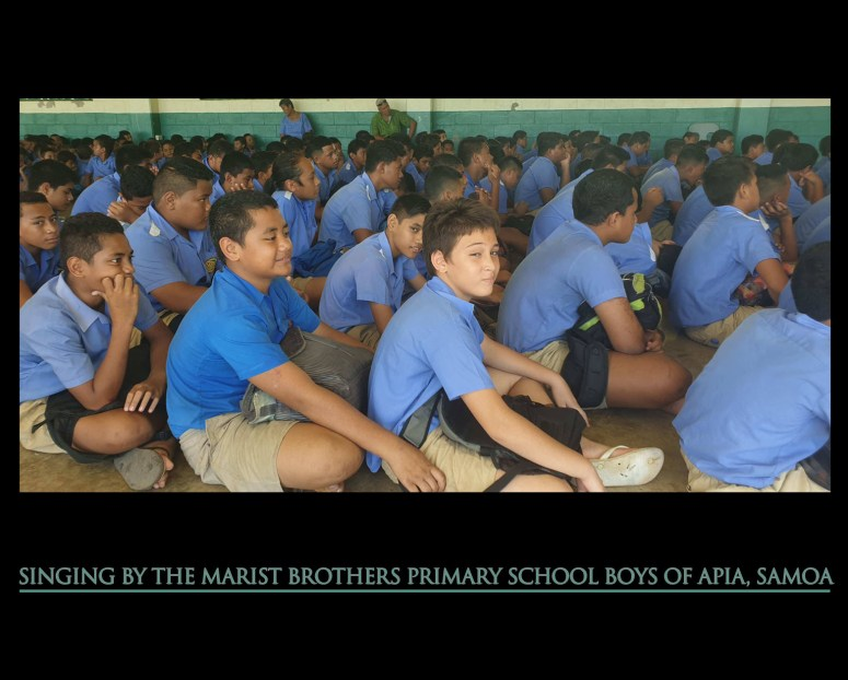 singing marist samoa spring 2020