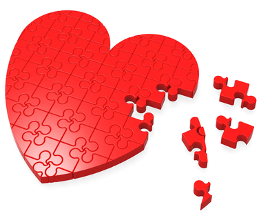 Unfinished Heart Puzzle Shows Romance And Affection