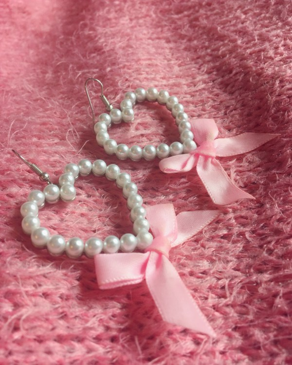 pearl-heart-pink-bow-earrings-princess-vintage-style