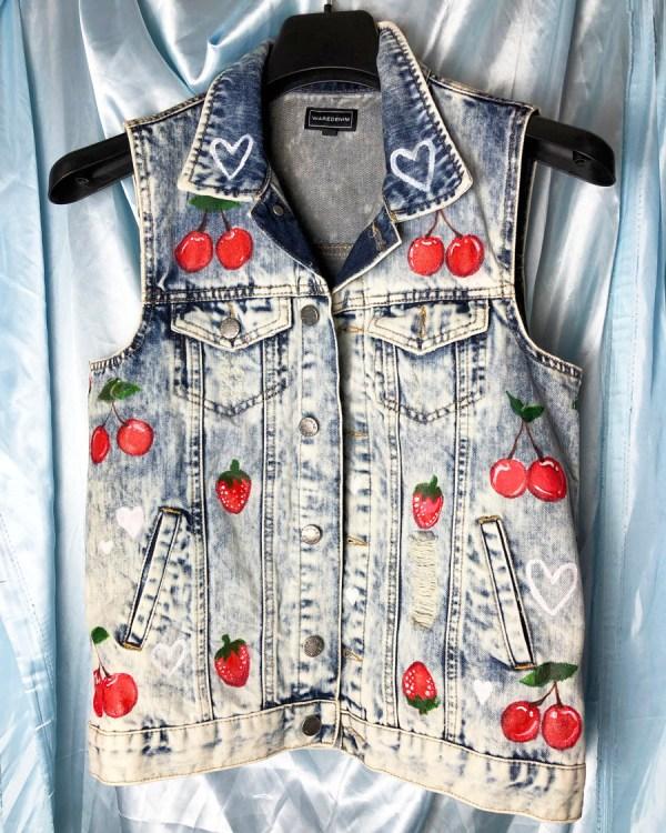 cherry-strawberry-upcycled-denim-waistcoat-jacket