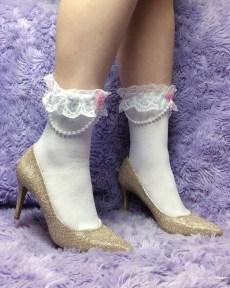 kawaii-lolita-pearl-white-ankle-socks-pink-bows