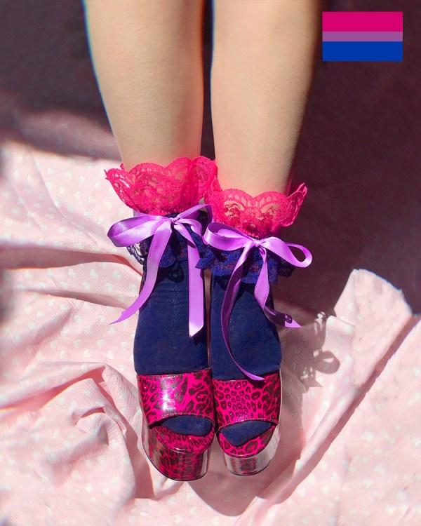 bisexual-flag-pride-frilly-socks-pink-purple-blue