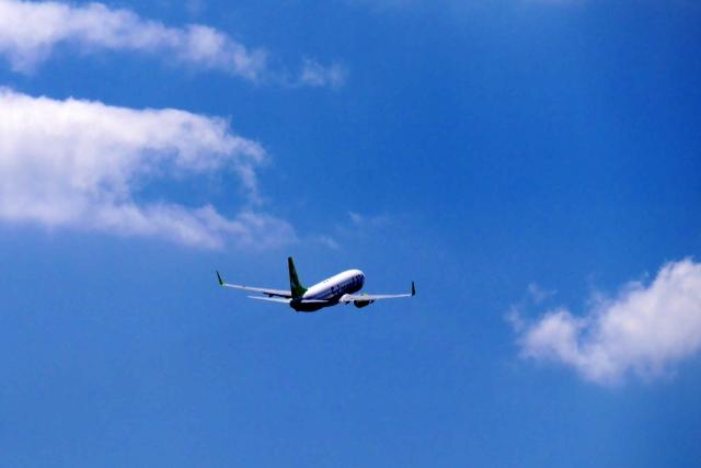 大型バナースタンド 飛行機移動