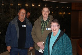 Dave Anger, Rusty Wade, and Dearborn Library Foundation Member Anne Gautreau