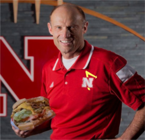 Mike Riley digs into a double-double.