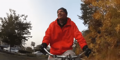 Mike Riley Rides A Bike
