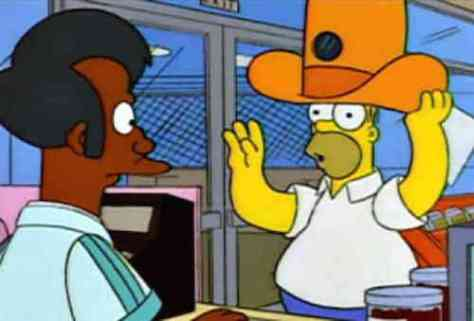 Homer and Apu Spy Camera