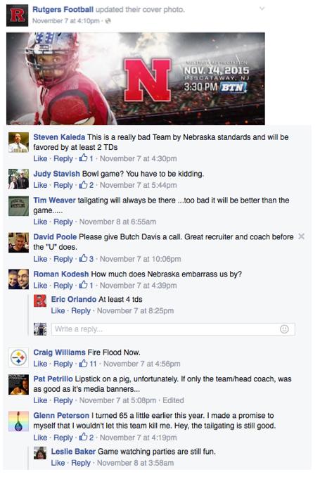 Rutgers Facebook Fans