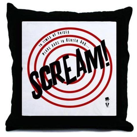 Scream Pillow
