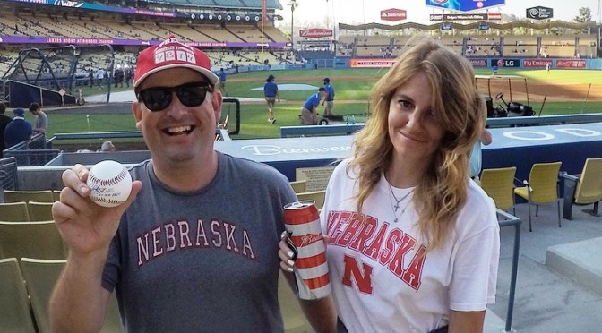 Two Husker Fans Walk Into Dodger Stadium…