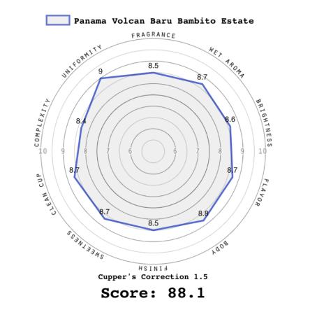 Panama Volcan Cupping Score
