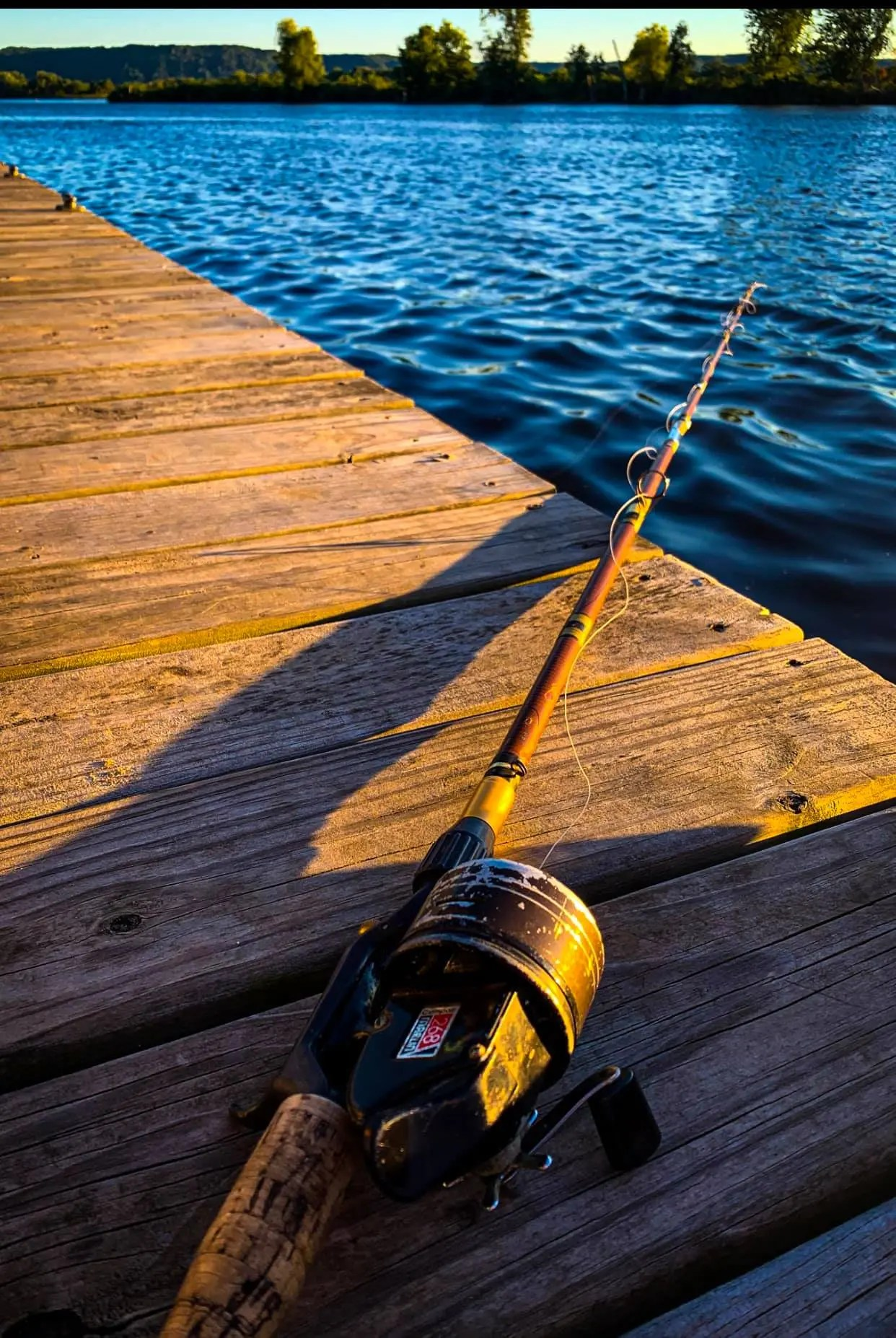 Fishing Pole on the Big River Escape Dock