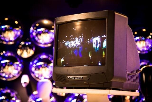 CRT TV. Cathode Ray Tube television.