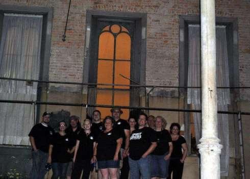 Members of JPRS, JHPS, and myself (representing MOSS) posing inside the Carthage Opera House