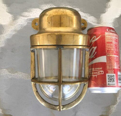 small brass ship wall light