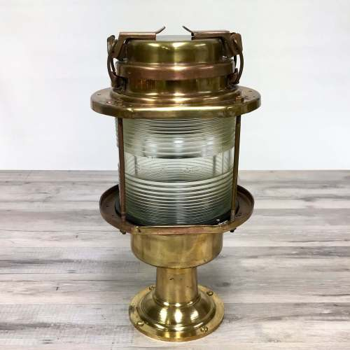 Brass & Copper Nautical Clear Lens Post Light