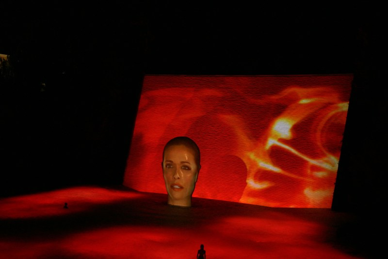 Wynn projection on water, test