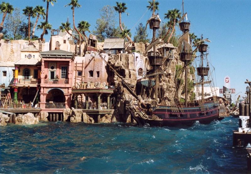 Treasure Island Ship rounding the bay