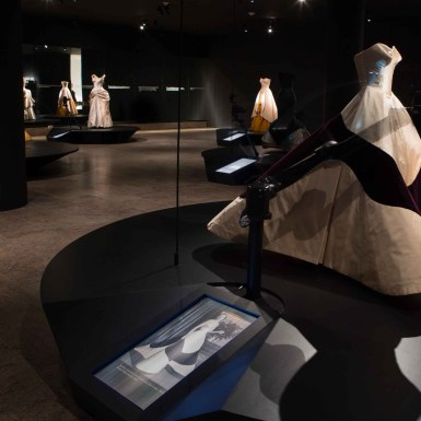 Met Museum Charles James Exhibit Clover Dress Robot and Animation