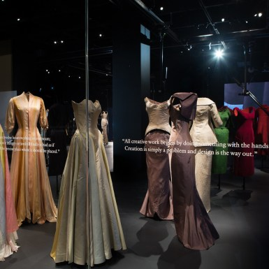Met Museum Charles James Costume Institue Dinner Suit Animation