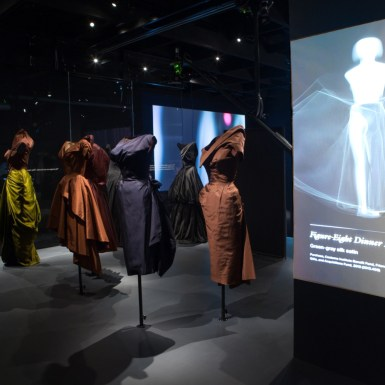 Met Museum Charles James Costume Institue Figure-Eight Dress Animation.