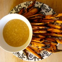 Yam Fries with Miso Gravy