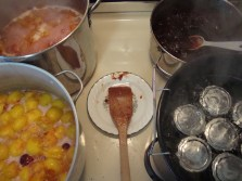 cooking the plum jam