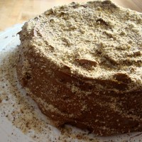 Hazelnut Torte with Chocolate Coffee Buttercream (gluten-free)