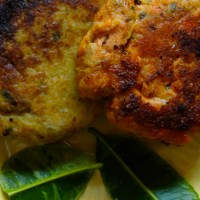 Red Curry Salmon Cakes/ Green Curry Crab Cakes (gluten-free)