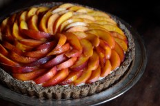 Fresh Nectarine Tart with a Hazelnut Crust and a Rose Glaze https://bigsislittledish.wordpress.com/2013/08/15/fresh-nectarine-tart-with-a-hazelnut-crust-and-rose-glaze/