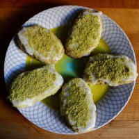 Pistachio Shortbread with Lemon Glaze (Vegan and Gluten-Free)/ Superheroes in our midst