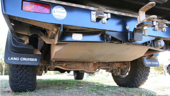 Long-range / auxiliary fuel tank on Land Cruiser