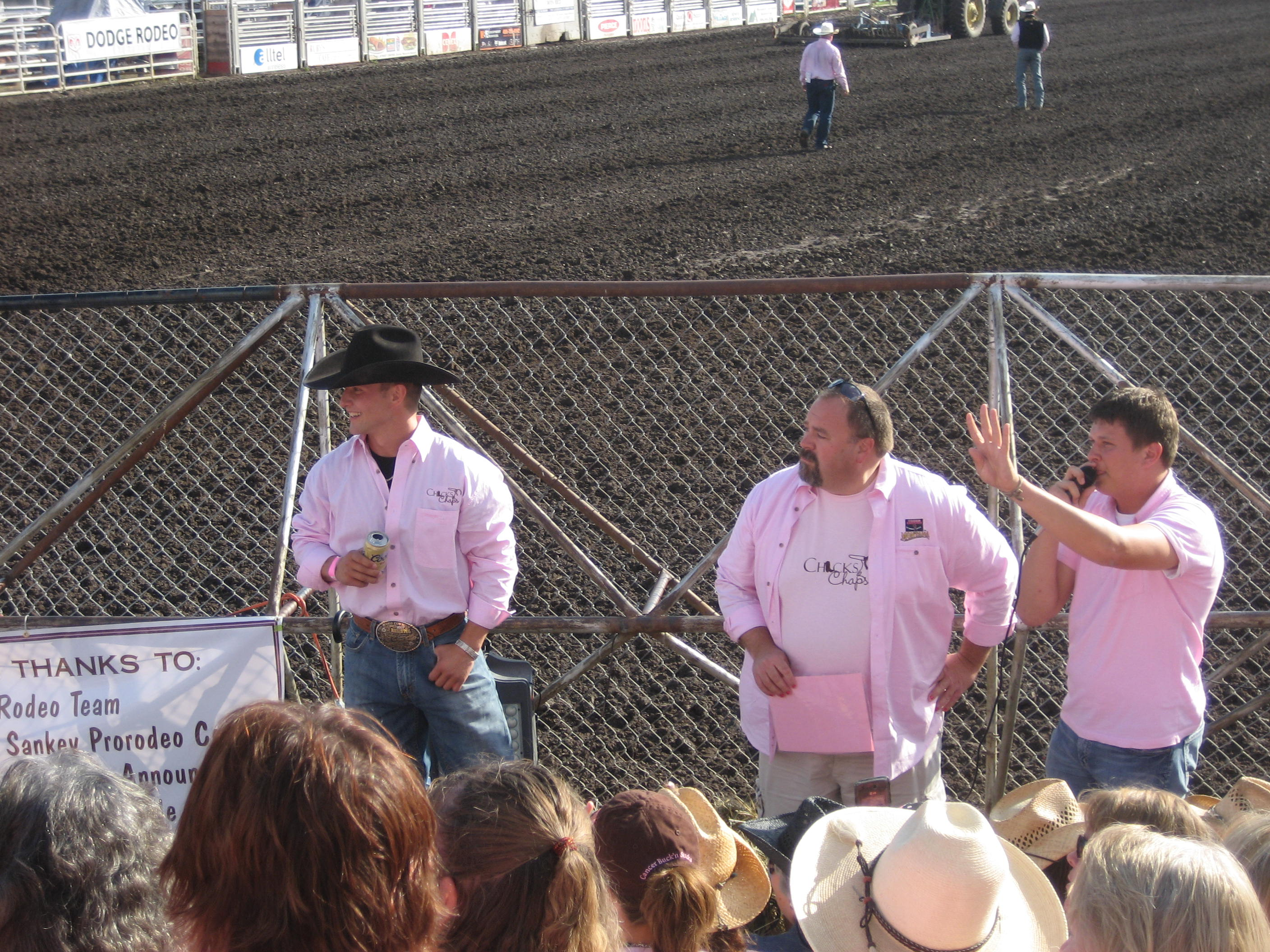 Cowboy for sale! The other guy is our Mayor and on the right is the auctioneer