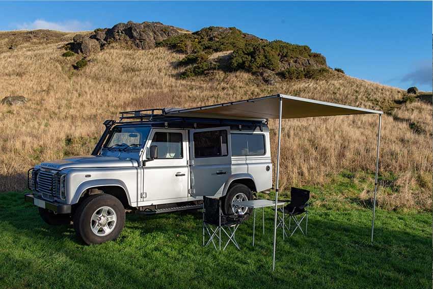 Land Rover Defender camping Scotland