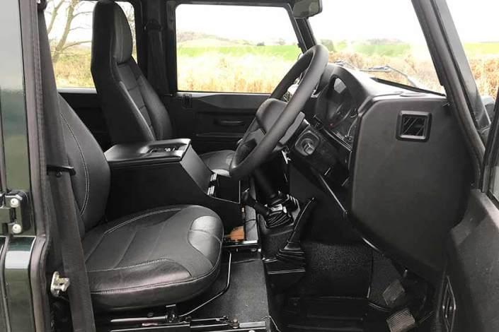 Land Rover Camper INterior Hire a Camper in Scotland