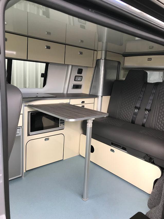 Kitchen area VW Campervan