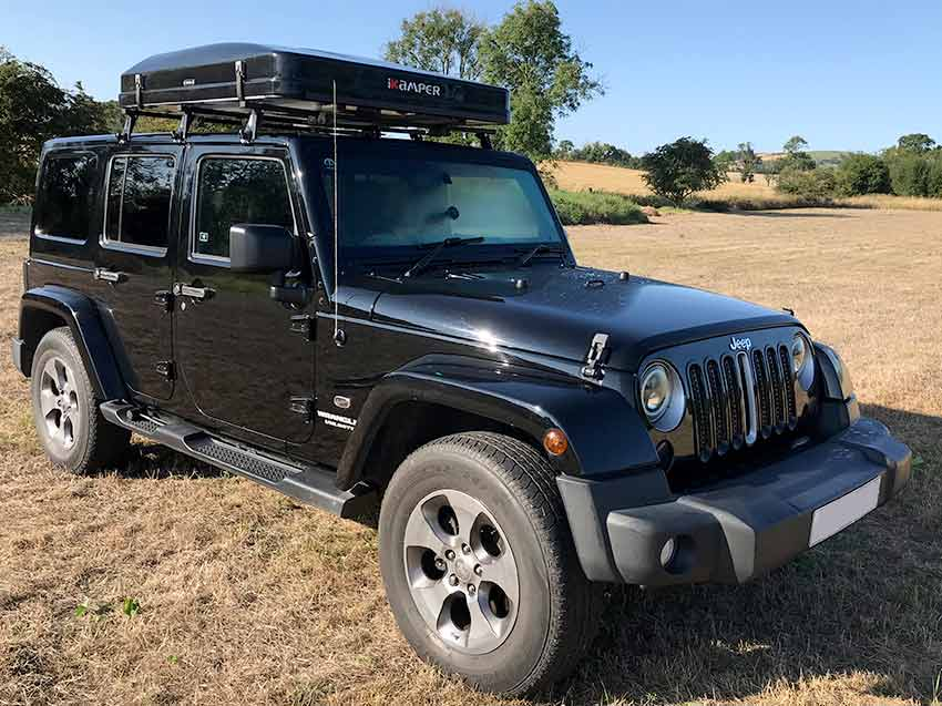 campervans for hire in scotland Jeep with rooftent